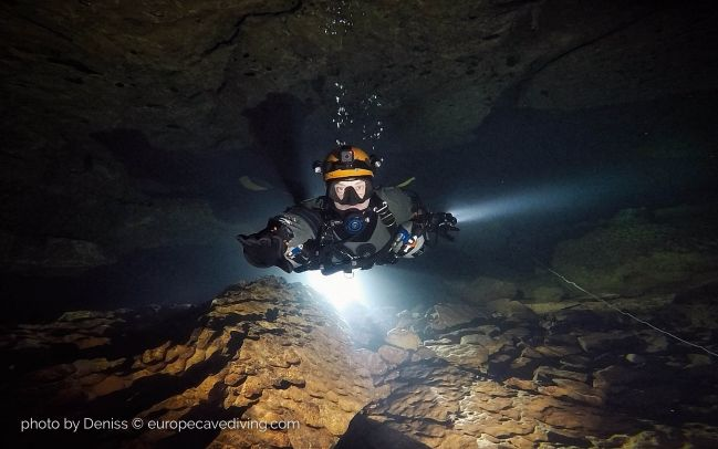 Caves of Lot cave diving in France