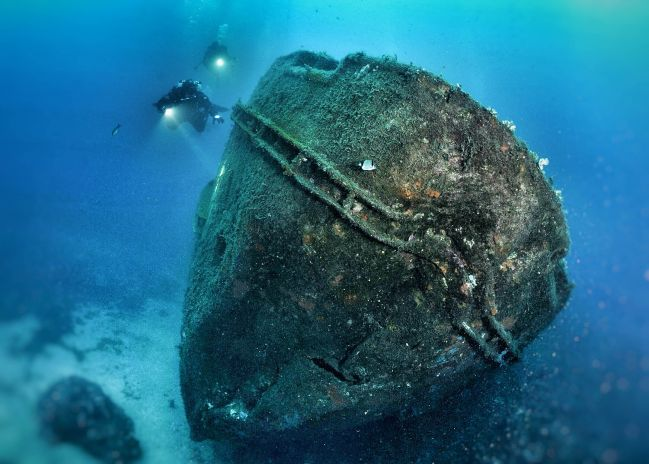 Wreck diving in France Wrecks Cote Vermeille Catalane